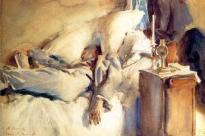 John Singer Sargent asleep reading